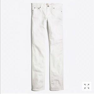 J. Crew Straight and Narrow White Jean